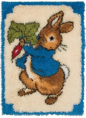 Bnib Peter The Cute Rabbit Blue Top Latch Hook Rug Kit Rare