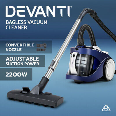 DEVANTi 2800W Bagless Cyclone Cyclonic Vacuum Cleaner HEPA Filtration System