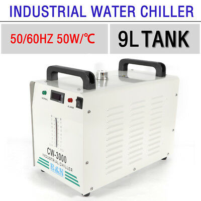 Thermolysis CW-3000 Industrial Water Chiller for 60W/ 80W Co2 Glass Tube 9L 220V