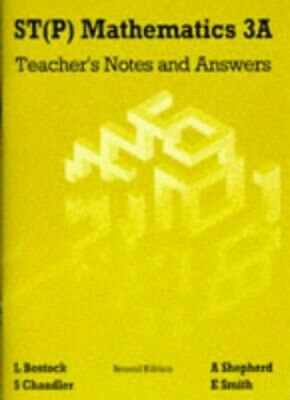 S. T. (P) Mathematics: Teachers' Notes and Answers B... by Smith, Ewart Pamphlet