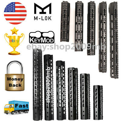 "US KEYMOD/M-lok Handguard 7""/9""/12""/15""Ultra Free Float Rail Slim+Nuts For Rifle"