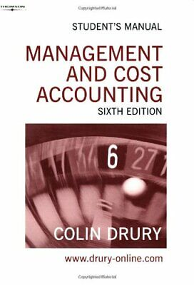 Management & Cost Accounting. Student's Manual by Drury, Colin Paperback Book