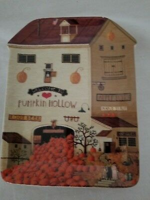 CHARLES WYSOCKI's COUNTRY HEARTLAND -PUMPKIN HOLLOW Antique Maple Syrup Plate #4