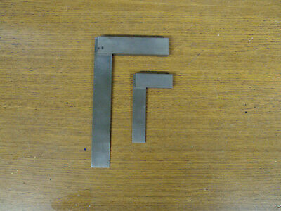 "2 Nice Shop Made Machinist Steel Squares 3"" And 6"" Inch"