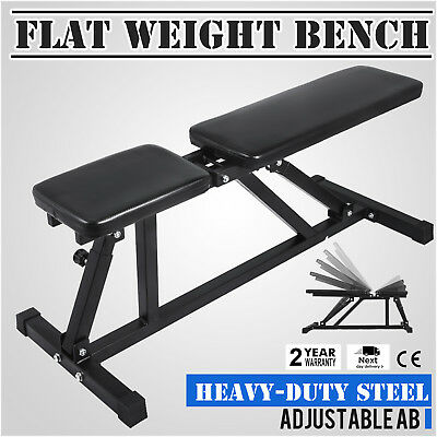 Folding Adjustable Sit Up Press AB Incline Abs Bench Flat Dumbell Weight Workout