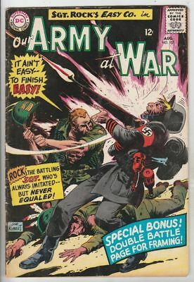 Our Army at War # 175 Strict FN/VF- Artist Joe Kubert & more up