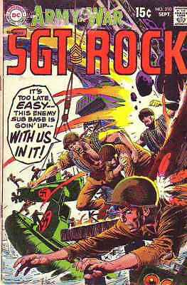 Our Army at War # 210 Strict GD/VG Artist Russ Heath, Sgt. Rock & Easy Co.