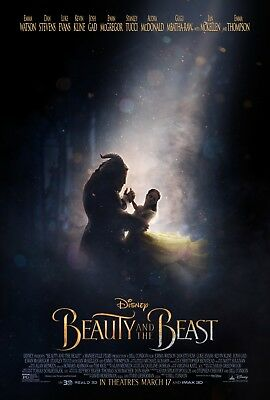 "Disney's BEAUTY AND THE BEAST 2017 Original Ver B DS 2 Sided 27x40"" Movie Poster"