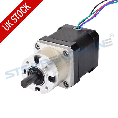 Nema 17 Geared Stepper Motor Gear Ratio 5:1 Planetary Gearbox 1.68A CNC Robotics
