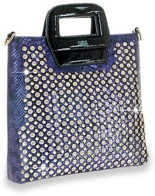 NEW Blue SUPER JEWELED/STUDDED tote