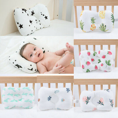 Newborn Infant Baby Sleep Pillow Nursing Prevent Flat Head Cushion Anti Roll SU