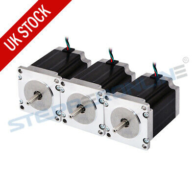 3PCS Nema 23 Stepper Motor 1.9Nm 3.0A 4-wire 6.35mm Shaft 76mm CNC Router Mill