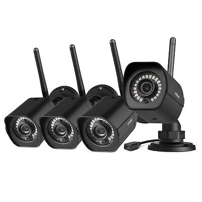 meShare 1080p Outdoor Wireless Security Camera System (4 Pack) Weatherproof