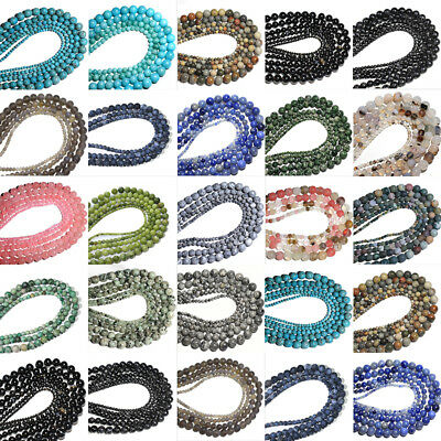 Bulk Wholesale 4mm/6mm/8mm/10mm Charms Round Glass Loose Spacer Beads Findings