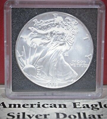 2006 Silver American Eagle BU 1 oz $1 Dollar Uncirculated U.S. Mint Air-tite Cap