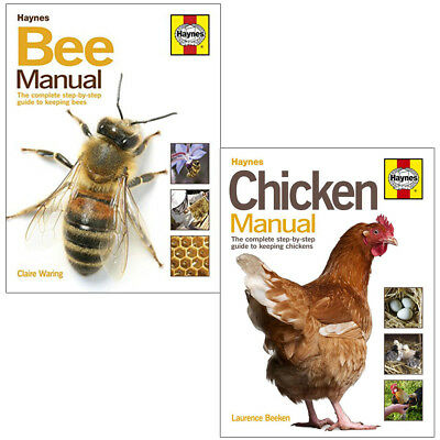 Bee and Chicken Manual Collection 2 Books Set Complete Step-by-Step Guide NEW