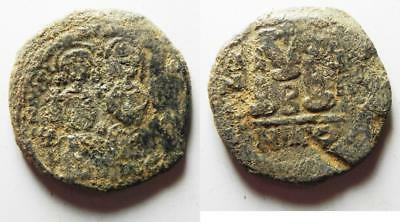 ZURQIEH -as8164- BYZANTINE EMPIRE. JUSTIN II & SOPHIA BRONZE FOLLIS