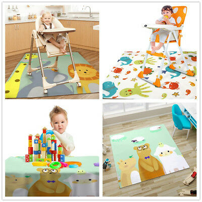 UK Highchair Baby Splat Floor Mat No-mess Anti Slip Feeding Protector Splash Mat