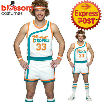 K684 Semi-Pro Jackie Moon Flint-Tropics Basketball Jersey Uniform Adult Costume