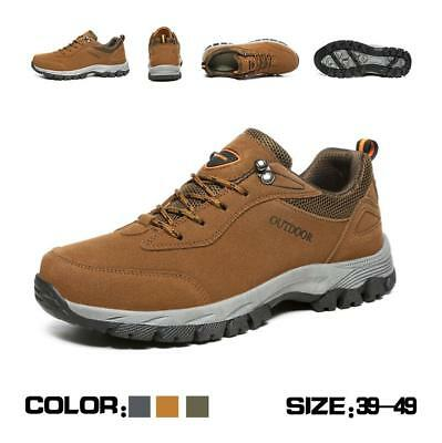 Mens Warm Outdoor Winter Sneakers Snow Boots Hiking Lace Up Gents Shoes Size
