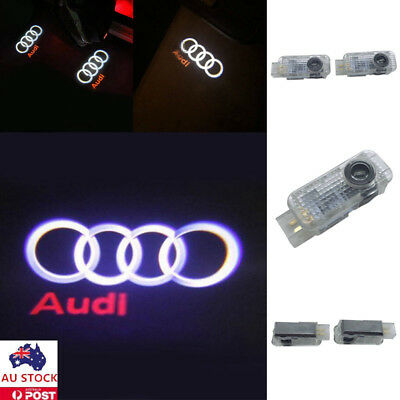 2Pcs LED Car Door Welcome Logo Light Shadow Projector Courtesy Laser For Audi