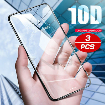 1/2/3PCS Full Cover Tempered Glass Screen Protector For IPhone X XS MAX XR 8 7 6