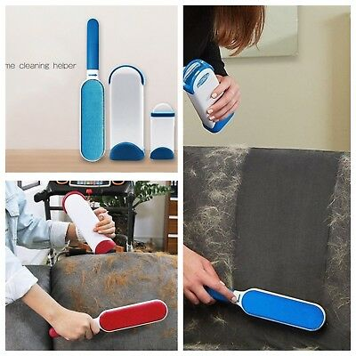 Pet Cat Dog Hair Reusable Removal Brush Cleaning Brush For Furniture Carpet 2Pc