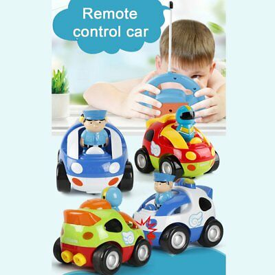 Cute Cartoon RC Race Car with Music Light Radio Control Toy for Toddlers FK