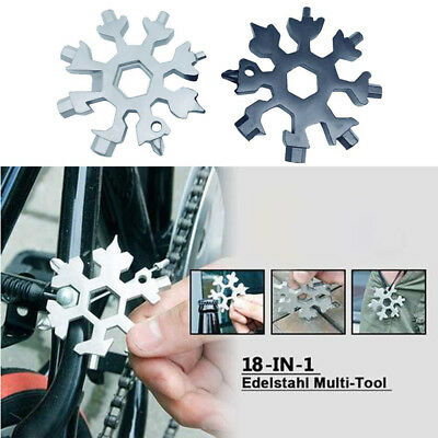 Amenitee 18-in-1 Stainless Steel Snowflakes Multi-tool - [USA]