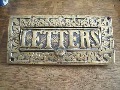 """2,5//8/"""" High Ideal STEAMPUNK 6 for 5 Solid Brass Engraved Antique Letters  68mm"""