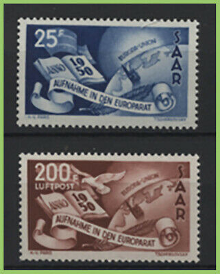 Saar (Germany) 1950 Saar's Admission to Council of Europe set MNH, sg294/295