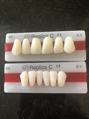 12 Acrylic False Teeth Repairs, Special FX Dentures, Dental, tooth Zombie  A1