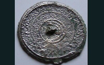 RARE AUTHENTIC MEDIEVAL DECORATED BRONZE MIRROR 3 - 5th century