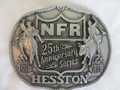 HESSTON NFR 25th Anniversary Series Pewter Belt Buckle Collectors 1st Edition
