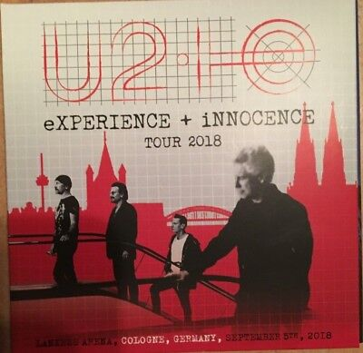 """U2 """"experience + Innocence Tour 2018"""" Rare Double Cd Live In Cologne Neuf !"""