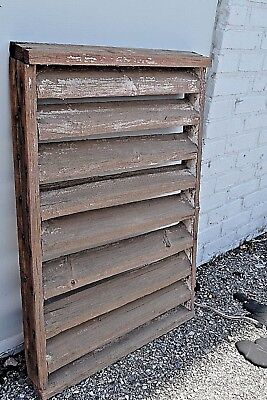 Vintage Antique Original Barn Wood Vents Louvers Rustic Farm Salvage