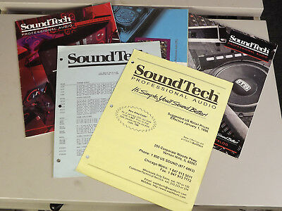 Several SoundTech Catalogs and Price Lists