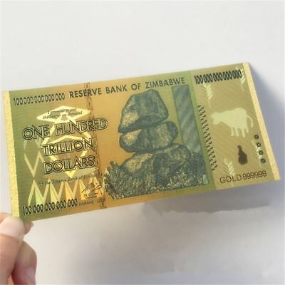 100 Trillion Dollar Zimbabwe Banknote World Money Currency Note Paper Money
