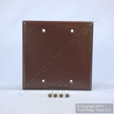 Eagle Brown STANDARD 2-Gang Blank Cover Box Mounted Thermoset Wallplate 2137B