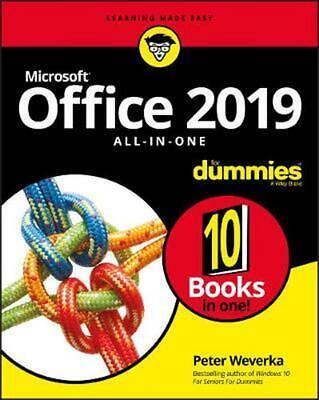 Office 2019 All-in-one for Dummies by Peter Weverka Paperback Book Free Shipping
