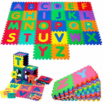 "26 x 12"" Kids Alphabet Puzzle Large Soft EVA Foam Floor Mat Tiles Interlocking"