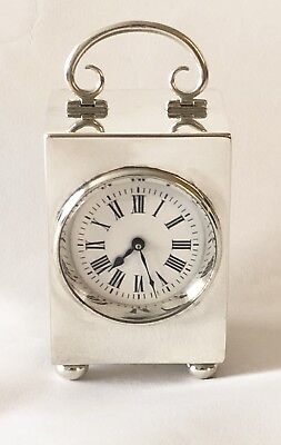 Hallmarked Silver Carriage Clock, Mantle Clock