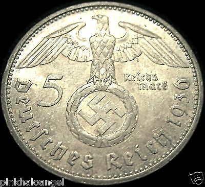 German Third Reich 1936A Silver 5 Reichsmark Coin