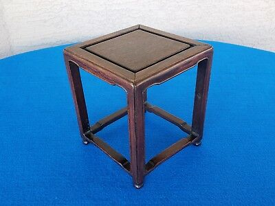 Vintage Chinese Square Wooden Stand Display Figure Vase Nice L@@k Here!!
