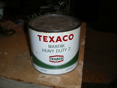 Texaco Grease Can Marfak 5 Lbs Made In Usa