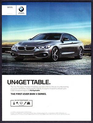 2014 BMW 4 Series 435i Coupe photo First Ever 4 Series vintage promo print ad