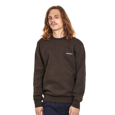 Carhartt WIP - Script Embroidery Sweat Tobacco / White Pullover Rundhals