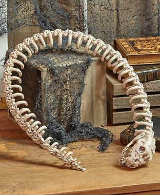 "Snake Skeleton Figurine 43"" Halloween Prop Garden Home Decor LS 426315016"