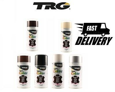 TRG Super Colour Spray Leather Plastic & Canvas Dye Clean Perfect For Car 150ml