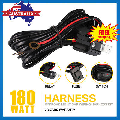 LED HID Wiring Loom Harness Spot Work Driving light bar for 12V40A Relay Switch